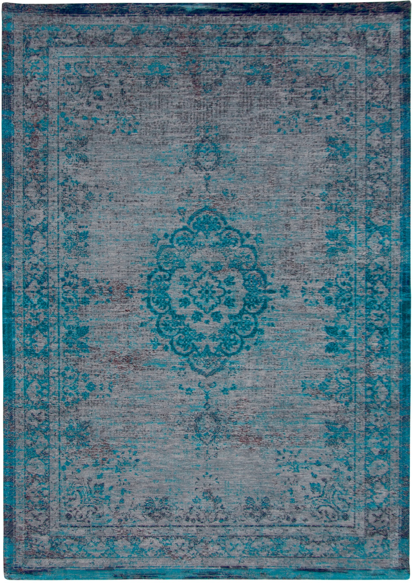 louis de poortere fading world grey turquoise 8255 rug. Black Bedroom Furniture Sets. Home Design Ideas