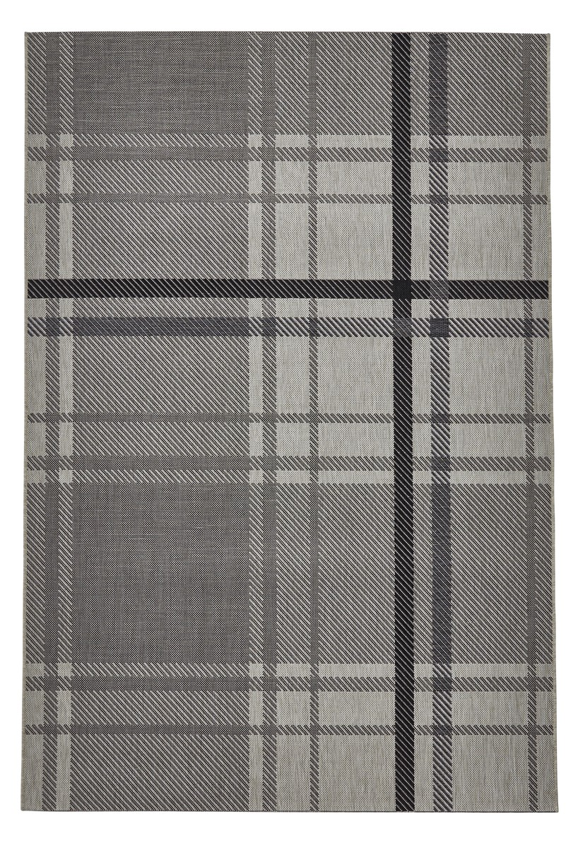 Think Breeze 6639 Sand Grey Grey Silver Rug Best Prices