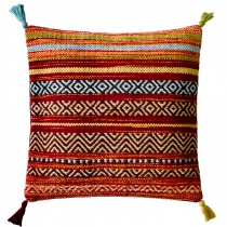 Striped Red Cushion