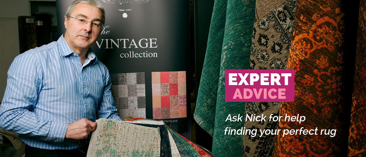 Ask Nick for help finding your poerfect rug.